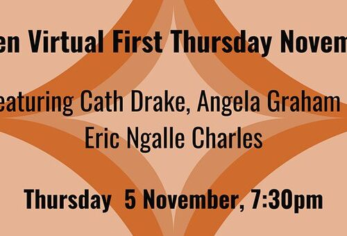 First Thursday – reading with Eric Ngalle Charles and Cath Drake