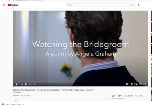 An Actor and a Poem – my 'Watching The Bridegroom'